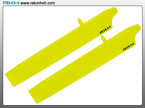 Blade 130X -  Bullet Plastic Main Blade 135mm-Yellow