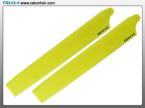 Blade 130X - Plastic Main Blade 135mm-Yellow