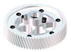 Goblin 630/700 - CNC Ultra Main Gear Set - Silver