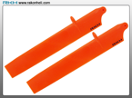 Blade 130X - Bullet Plastic Main Blade 135mm-Orange