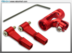 Blade 130X - CNC AL DFC Center Hub Set (Red)