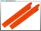 Blade 130X - Plastic Main Blade 135mm-Orange