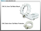 Blade Nano CP - CNC AL 6mm Tail Motor Mount Set (Silver)