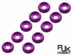 RJX 3.0mm Finish Cap (x10 PCS) Purple