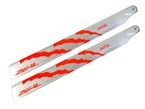 ZEAL Energy Carbon Fiber Main Blades 325mm (Orange)