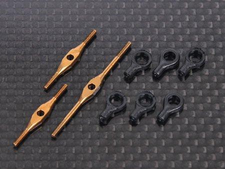 Ti Turnbuckles (M1 3x33 -1pcs, M1 3x21 -2pcs ) Trex 250 swash